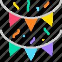 flag, decoration, celebration, carnival, festive, event, party