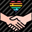 handshake, lgbt, people, hand, partnership, pride, deal