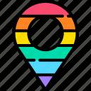 pin, lgbt, rainbow, lgbtq, sign, location, meeting