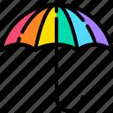 umbrella, lgbt, rainbow, colorful, rain, protection, parasol