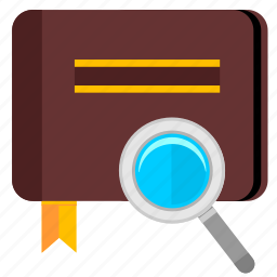 album, bible, book, find, magnifier icon