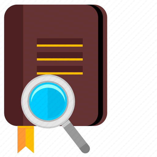 bible, book, chapter, find, magnifier, text icon