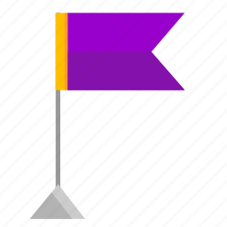 flag, pennant, point, violet icon