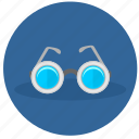 eyeglasses, glasses, look, round icon