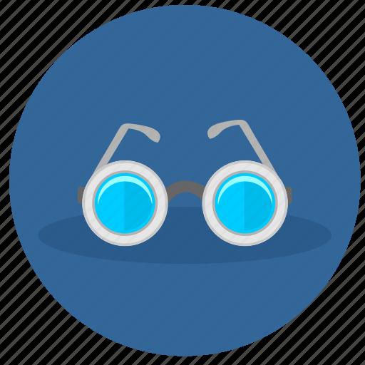 eyeglasses, glasses, look, round icon