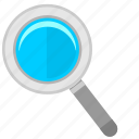 instrument, loop, magnifier, view icon