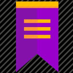flag, lilac, pennant, violet icon