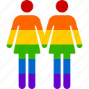 couple, gay, homosexual, lesbian, lgbt, marriage, rainbow icon