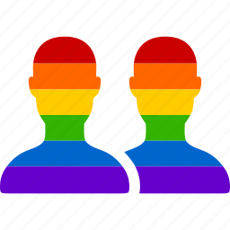 couple, gay, homosexual, lgbt, marriage, rainbow, relationship icon