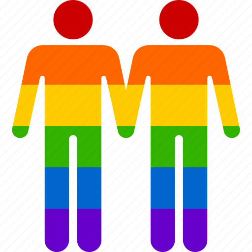 couple, gay, homosexual, marriage, men, rainbow, relationship icon
