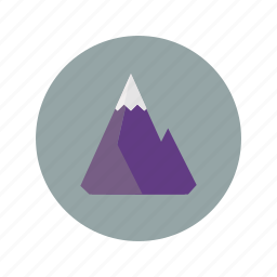 ice, mountain, peak, rock, snow, winter icon