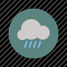 cloud, data, fall, gray, minimalistic, rain, water icon