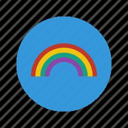 colors, ecology, life, minimalistic, nature, rainbow, sky icon