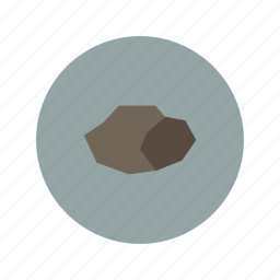 crag, metal, mineral, minimalistic, rock, stone icon