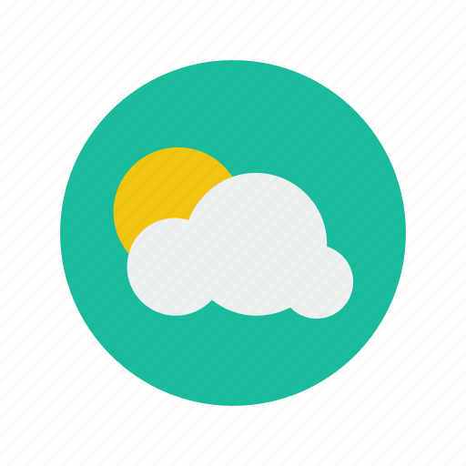 cloud, day, forecast, minimalistic, nature, sky, sun, weather icon