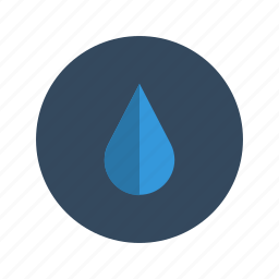 blue, drink, drop, fall, minimalistic, nature, water icon