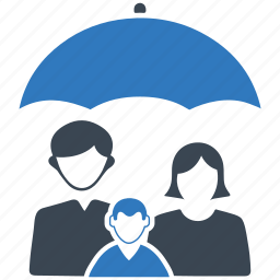 family insurance, life insurance, parents, protection, umbrella icon icon
