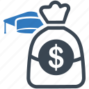 college savings, education, money, piggy bank icon icon