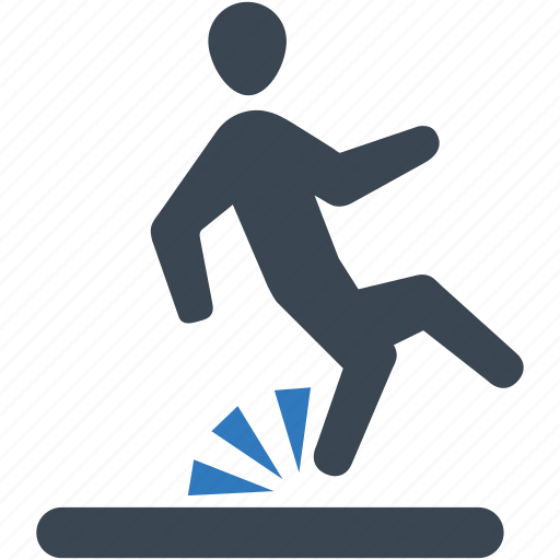accident, fall, fall down, slip icon icon