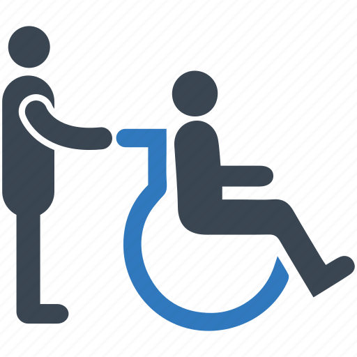 care, disability, disabled, healthcare, wheelchair icon