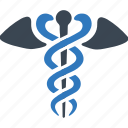caduceus, health care, healthcare, snake icon icon