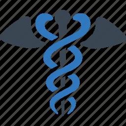 caduceus, health care, healthcare, snake icon icon