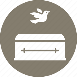coffin, death, funeral, funerals insurance icon