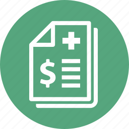 document, health insurance, insurance policy, medical bill icon