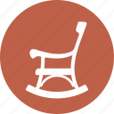 pension, retirement plan, rocking chair icon