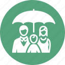 family insurance, life insurance, parents, umbrella icon
