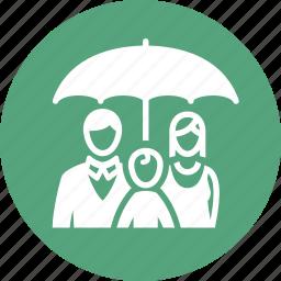 family insurance, life insurance, parents, umbrella icon