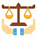 fairness, impartiality, judge, justice, justness, rightness icon