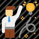 creative, initiative, invention, leader, power, skill icon