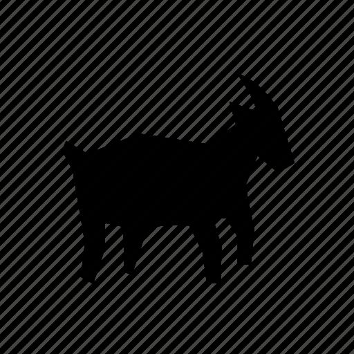 domestic, farm, goat, lamb, mammal, milk, nanny icon