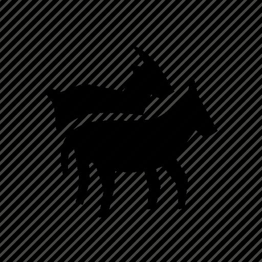 donkey, goat, transhumance icon