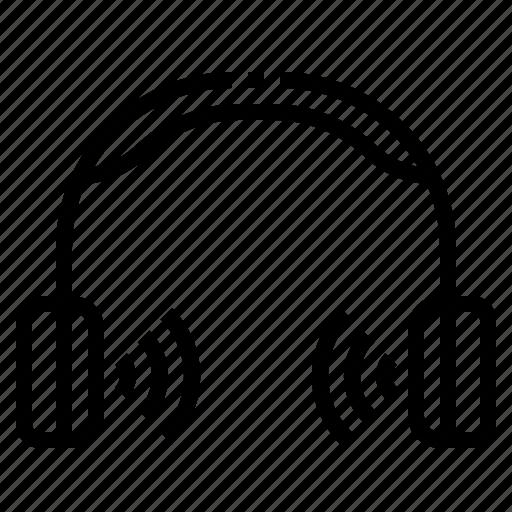 earphone, headphone, listen icon