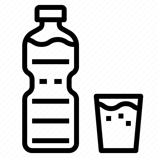 bottle, glass, water icon