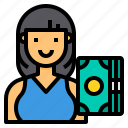 avatar, banker, job, occupation, woman icon