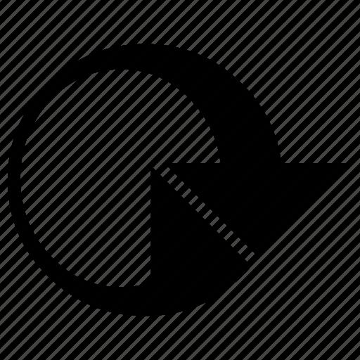 arrow, circle, refresh, rewind, round, sign, start to finish icon