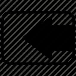 arrow, arrow left, direction, left, move left, point left, way icon