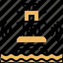 bouy, dangerous, emergency, marine, warning icon