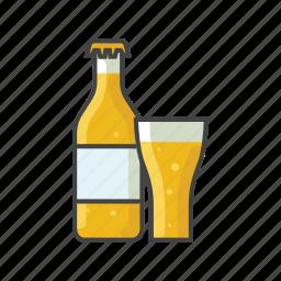 alcohol, beer, beverage, bottle, drink, label icon