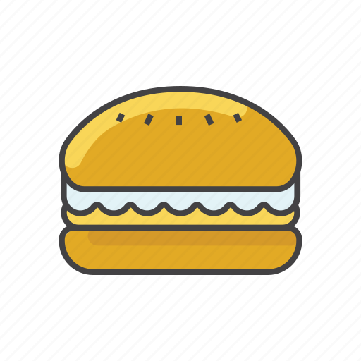 Bread, burger, cheeseburger, double burger, fast food, food, hamburger icon - Download on Iconfinder