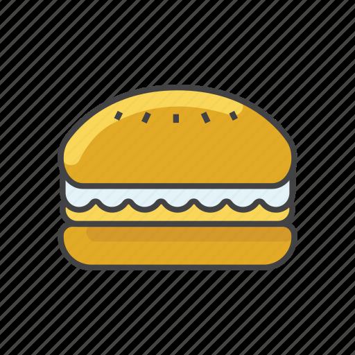 bread, burger, cheeseburger, double burger, fast food, food, hamburger icon