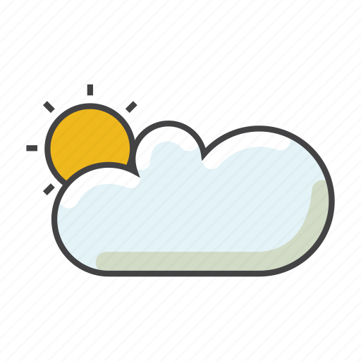 cloud, day, ray, rays, sky, sun icon