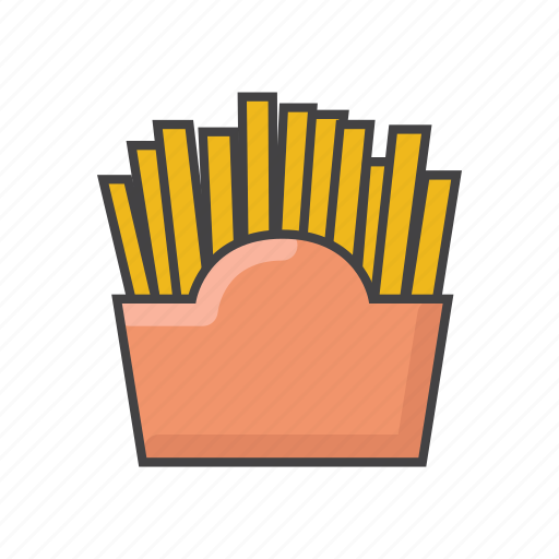 fastfood, food, french, fries, potato, snack, vegetable icon