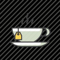 beverage, drink, green, herbal, hot drink, hot tea, tea icon
