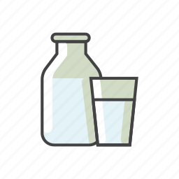 bottle, child food, food, glass, milk icon