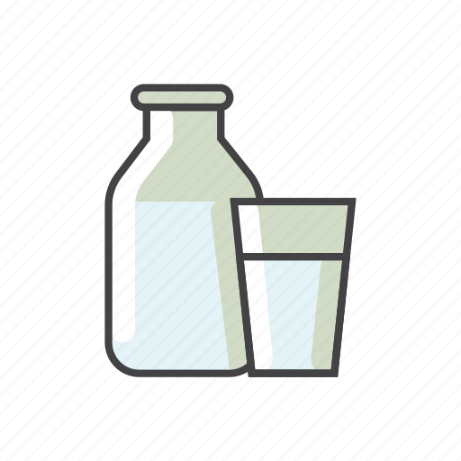 Bottle, child food, food, glass, milk icon - Download on Iconfinder