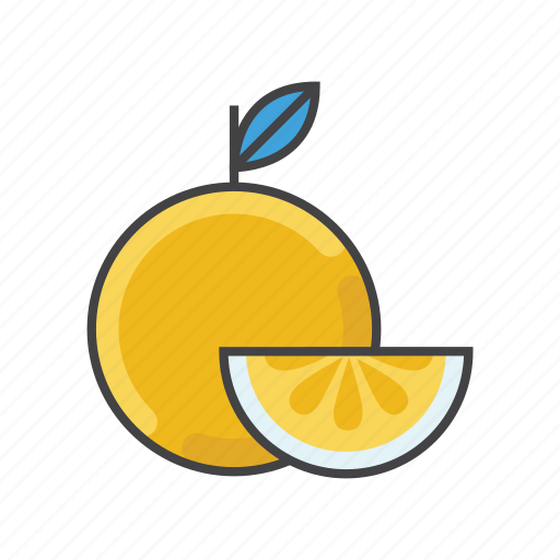 eat, fruits, garnish, lemon, lime, orange, orange slice icon